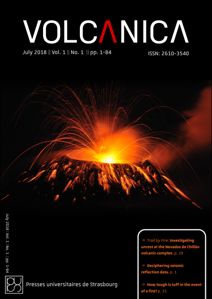 Front cover of Volcanica 1(1): Long-exposure photography of Tungurahua volcano by Dr Benjamin Bernard